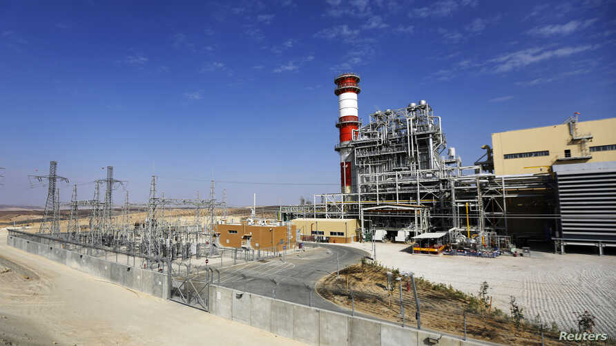 FILE - OPC Rotem, Israel's biggest private power plant that runs on gas from the Tamar field, is located in Mishor Rotem industrial area, southern Negev desert, Israel.