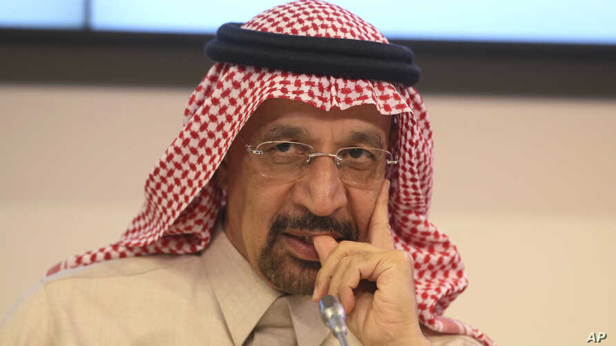 Khalid Al-Falih Minister of Energy, Industry and Mineral Resources of Saudi Arabia attends a news conference after a meeting of the Organization of the Petroleum Exporting Countries at their headquarters in Vienna, Austria, Nov. 30, 2017.