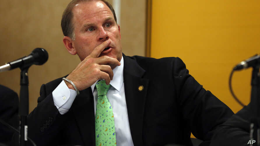 FILE - University of Missouri President Tim Wolfe. Missouri football players announced Saturday, Nov. 7, 2015, on Twitter that they will not participate in team activities until the university president is removed from office.