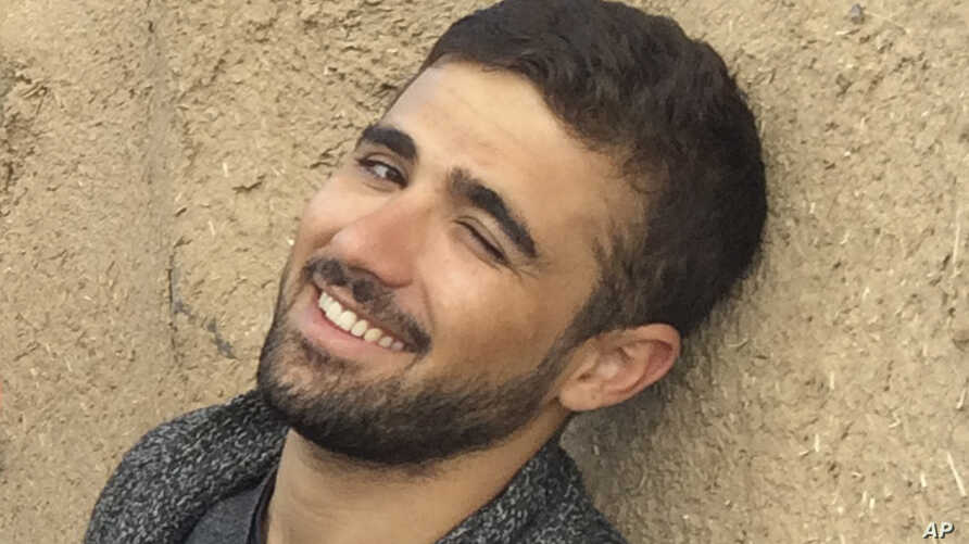 FILE - In this Saturday Nov. 1, 2014 file photograph, freelance translator Mohammed Rasool is pictured during a break while working with an Associated Press team in Turkey. Vice News said Jan. 5, 2016 that reporter Mohammed Rasool has been released o