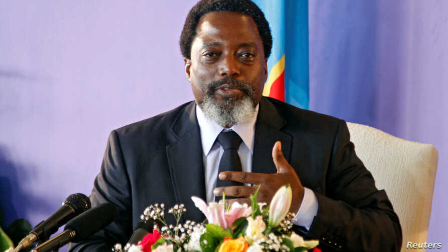 Democratic Republic of Congo's President Joseph Kabila holds a news conference at the State House in Kinshasa, Democratic Republic of Congo Jan. 26, 2018.