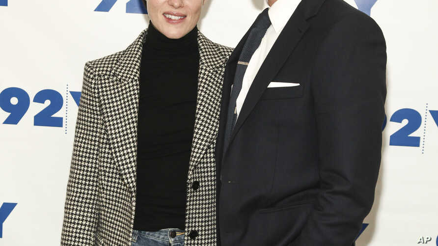 "Actors Claire Foy, left, and Matt Smith attend a screening and discussion of season two of Netflix's, ""The Crown"", at 92Y in New York, Dec. 4, 2017."
