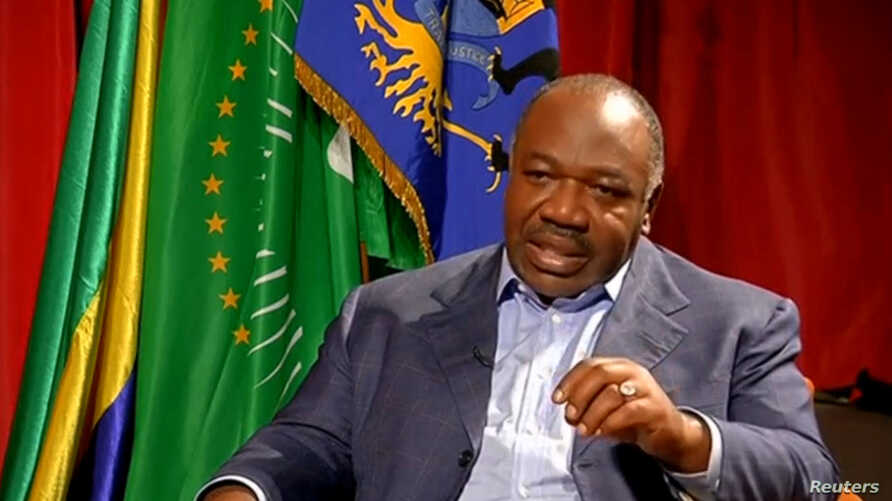 A still image from video shows Gabon President Ali Bongo being interviewed in Libreville, Gabon, September 24, 2016. Officials from a department of Bongo's government seized 20 employees of an opposition newspaper, Thursday, November 3.