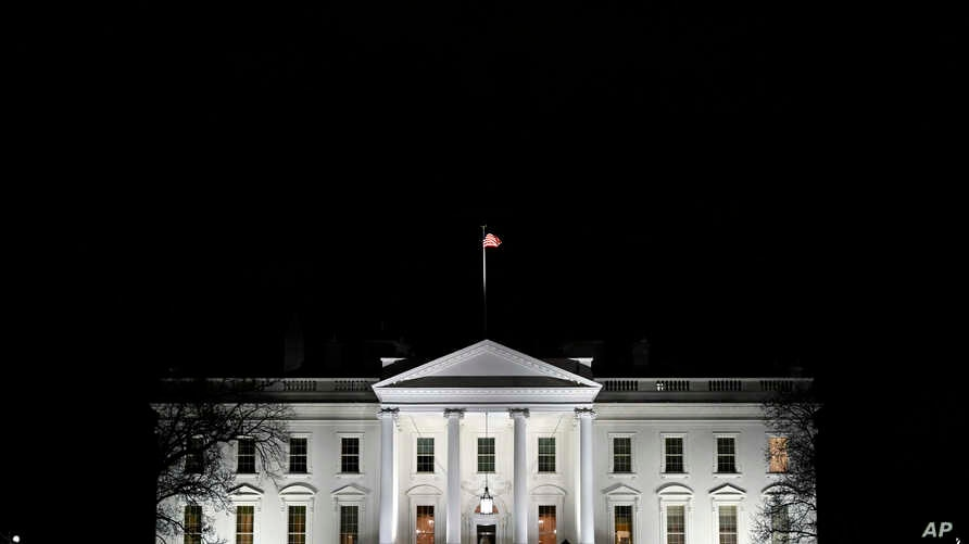 A view of the White House in Washington, Jan. 23, 2019.