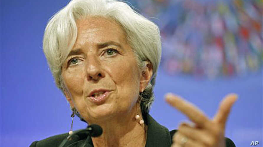 International Monetary Fund Managing Director Christine Lagarde speaks at a news conference during IMF/World Bank annual meetings at the IMF in Washington, D.C., September 22, 2011.