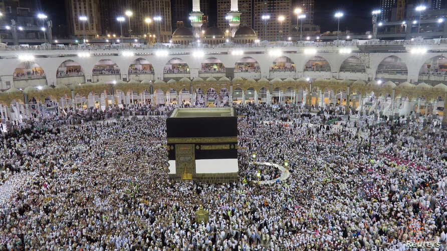 Muslim pilgrims circle the Kaaba at the Grand Mosque in Mecca, Saudi Arabia, Sept. 4, 2016.