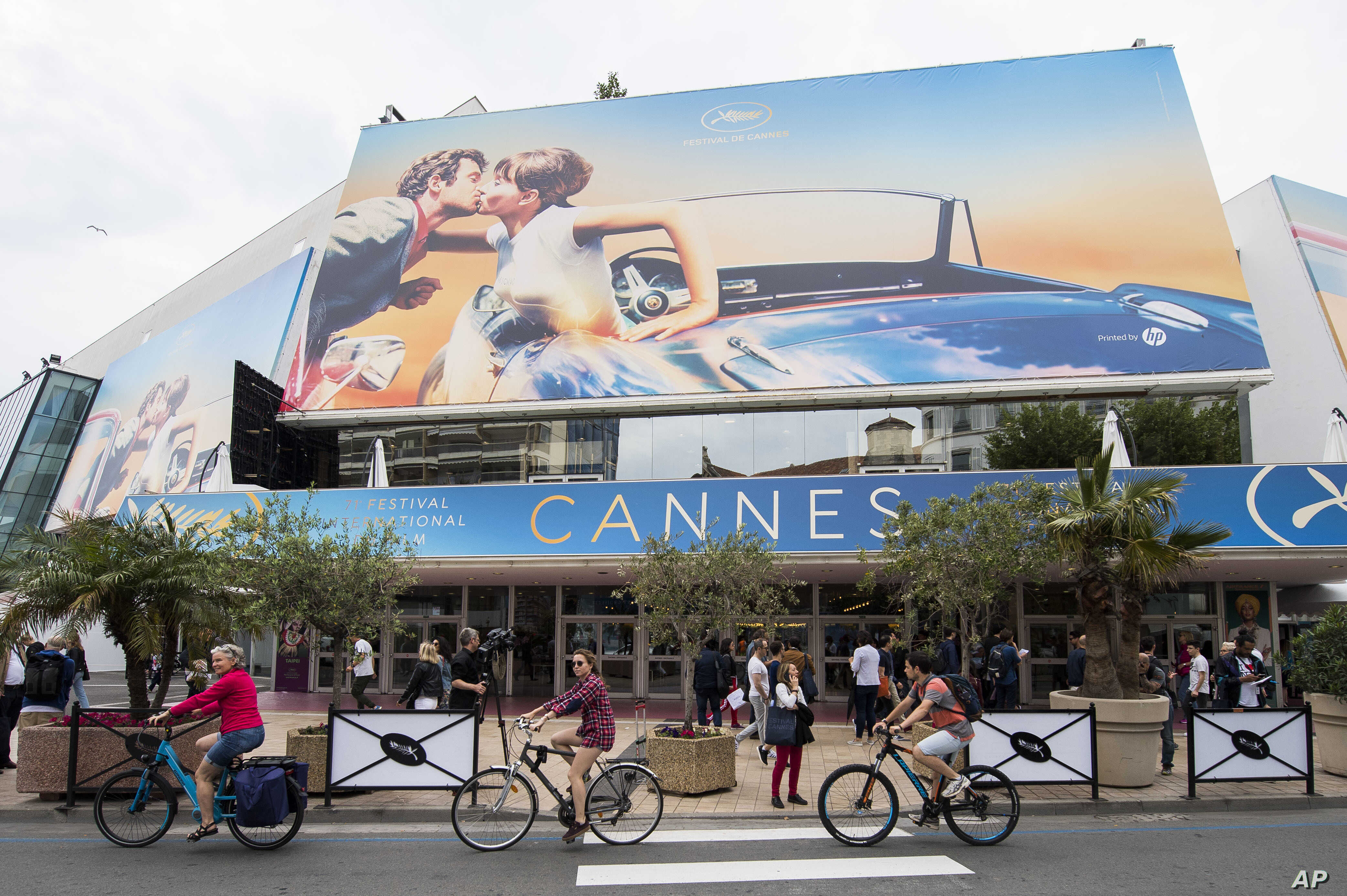 A view of the Palais des Festivals at the 71st international film festival, Cannes, southern France, May 7, 2018.