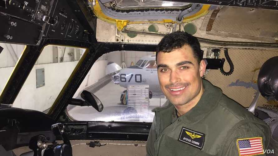 FILE - Lt. Steven Combs, assigned to the Providers of Fleet Logistics Support Squadron (VRC) 30. Lt. Combs is one of three Sailors lost when their C-2A Greyhound crashed while conducting a routine transport flight carrying passengers and cargo from M...