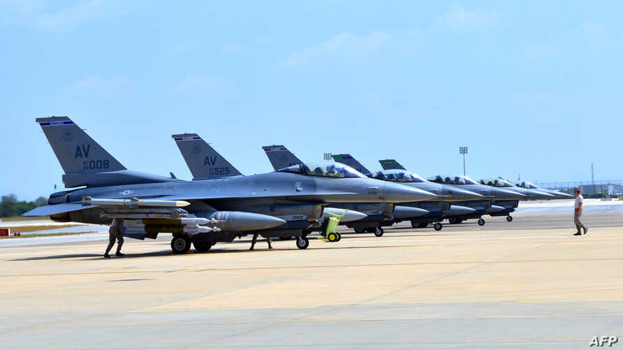 Six U.S. F-16 Fighting Falcons from Aviano Air Base, Italy, arrive at Incirlik Air Base, Turkey, to take part in anti-Islamic State missions, Aug. 9, 2015.