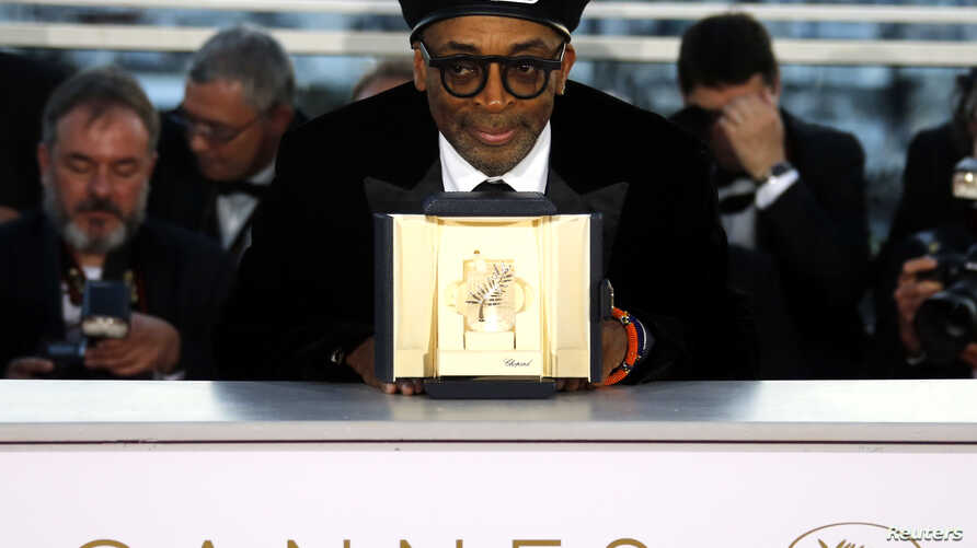 "Director Spike Lee, Grand Prix award winner for his film ""BlacKkKlansman,"" poses after the closing ceremony of the 71st Cannes Film Festival, Cannes, France, May 19, 2018."