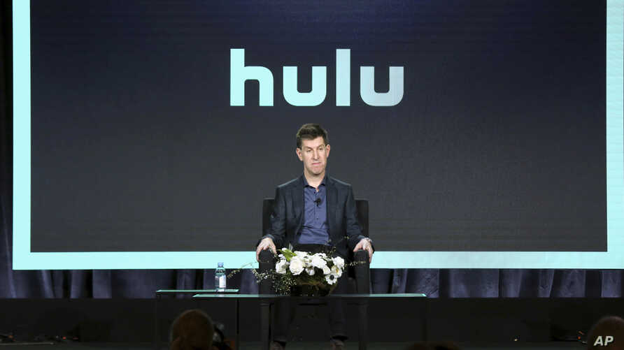 Senior Vice President of Content of Hulu Craig Erwich speaks at the executive session during the Hulu presentation at the Television Critics Association Winter Press Tour at The Langham Huntington on Feb. 11, 2019, in Pasadena, Calif.