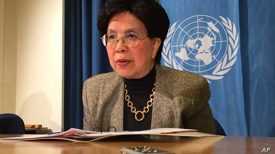 The director-general of the World Health Organization WHO , Margaret Chan , speaks during a news conference in Geneva, October 20, 2015.