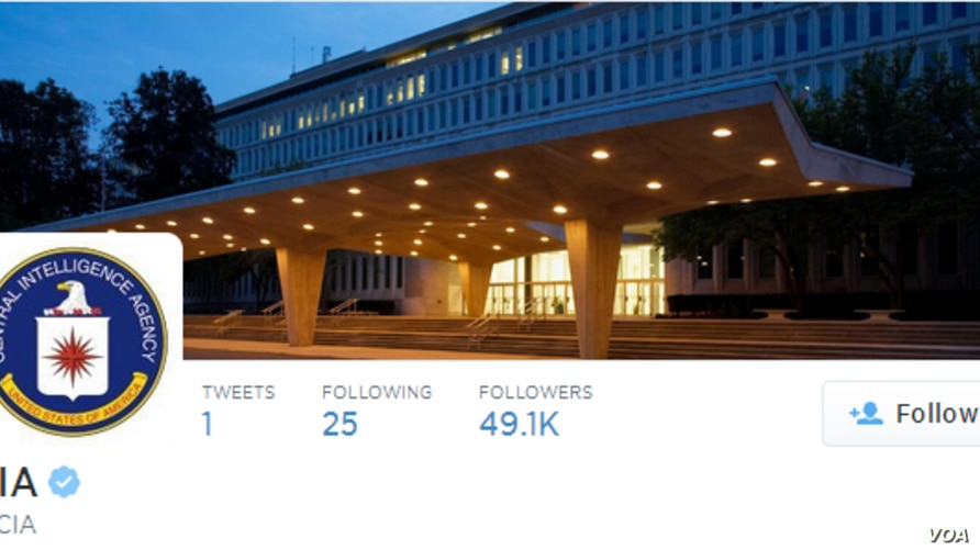 The CIA announced today that it had joined Twitter and Facebook.