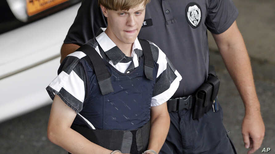 Racial hatred drove white supremacist Dylann Roof, seen in this June 2015 photo, to kill nine people at a black church in Charleston, South Carolina last year.