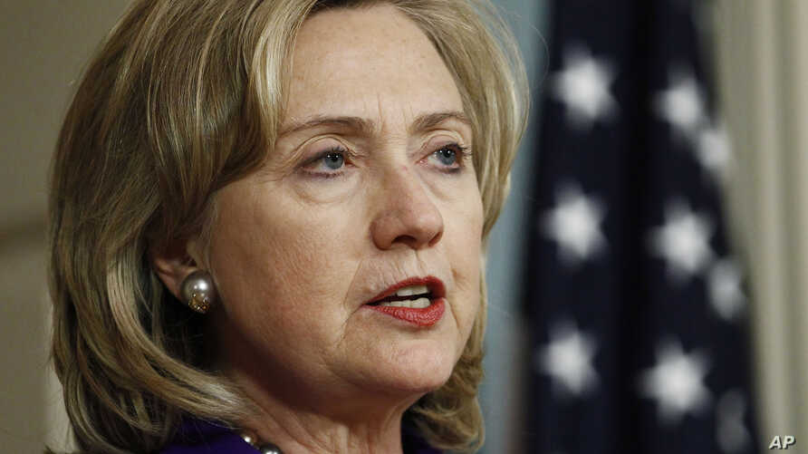 U.S. Secretary of State Hillary Clinton makes remarks about Libya at the State Department in Washington, March 24, 2011.