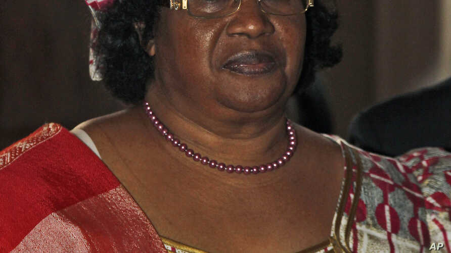 May re-election for Malawi's president, Joyce Banda, shown on June 6, 2012, may be influenced by speed and results of government handling of Cashgate probe.