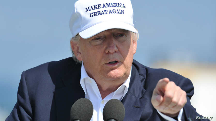Republican presidential candidate Donald Trump speaks during a news conference, at his Turnberry golf course, in Turnberry, Scotland, Britain June 24, 2016.