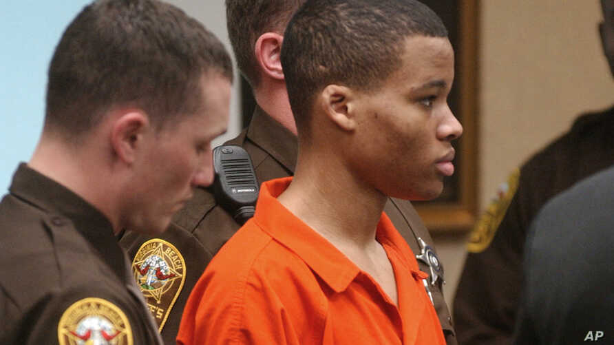 FILE - Lee Boyd Malvo listens to court proceedings during the trial of fellow sniper suspect John Allen Muhammad in Virginia Beach, Va.