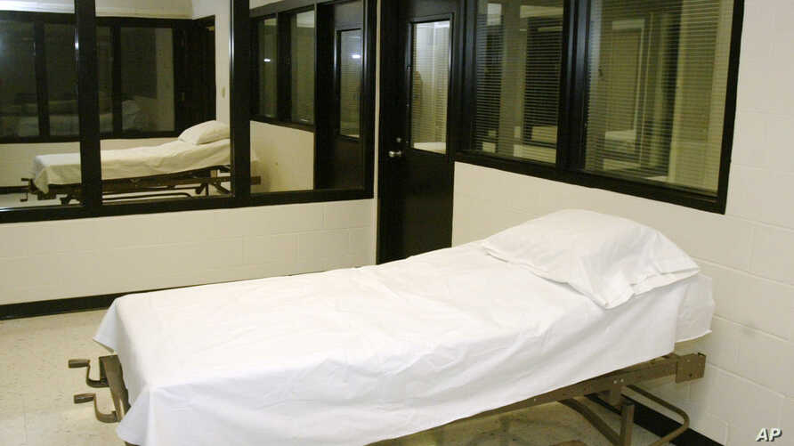File - In this April 12, 2005 file photo is the death chamber at the Missouri Correctional Center in Bonne Terre, Mo.