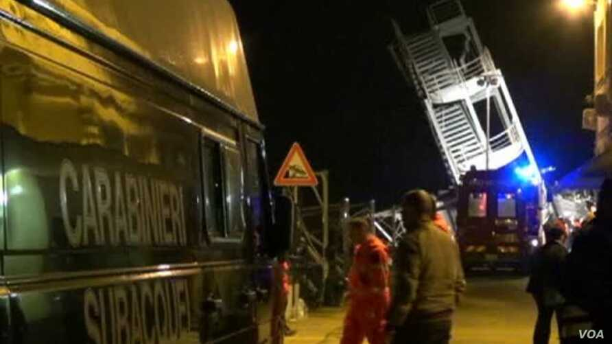 Several Dead as Cargo Ship Crashes into Tower at Italian Port