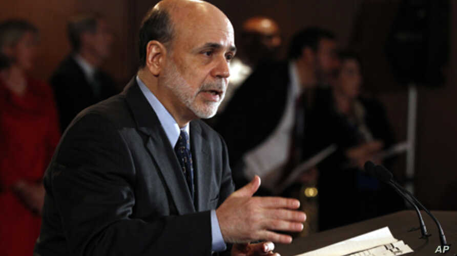Chairman of the Federal Reserve Ben Bernanke (file photo)