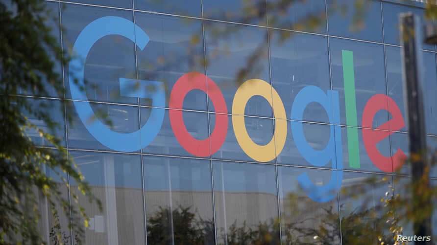 FILE - A Google logo is seen at the company's headquarters in Mountain View, California, Nov. 1, 2018.