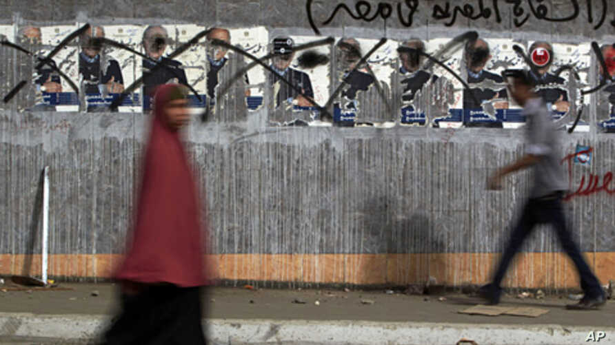 A scene in Cairo on election day, May 13, 2012 (AP).