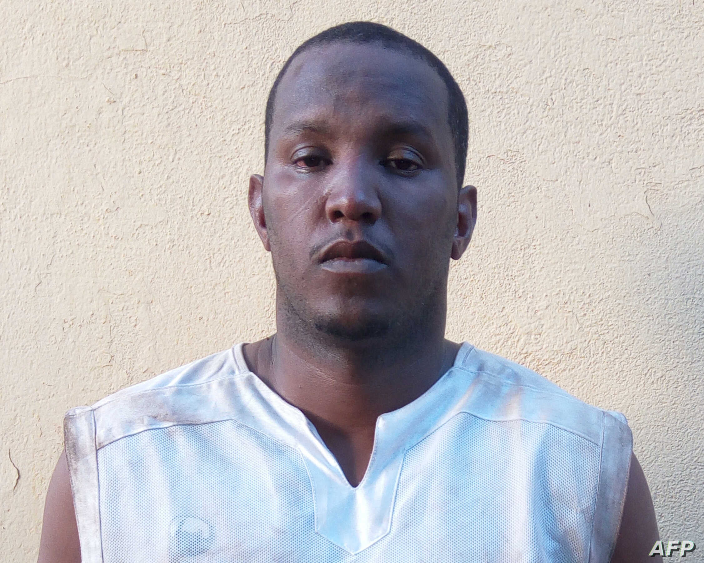 An image obtained by AFP on April 21, 2016 in Bamako shows Fawaz Ould Ahmeida from Mauritania, suspected of planning and carrying out a string of deadly attacks on sites popular with foreigners in Mali in 2015, after his arrest on the same day in a s