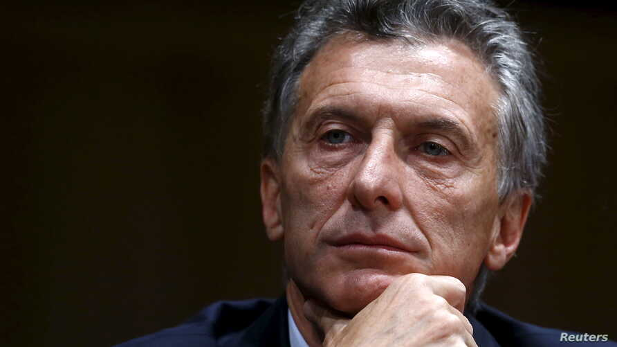 Argentina's president-elect Mauricio Macri smiles during a news conference in Buenos Aires, Argentina, Nov. 23, 2015.