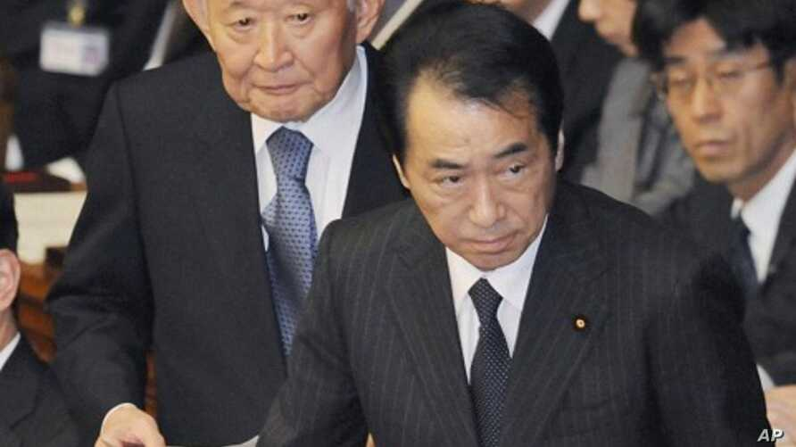 Japan's Prime Minister Naoto Kan attends lower house parliamentary session in Tokyo, 27 Jan 2011