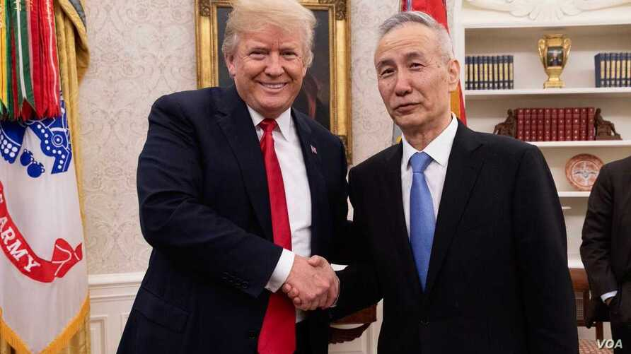 President Donald Trump meets with Chinese Vice Premier Liu He at the White House, May 17, 2018.