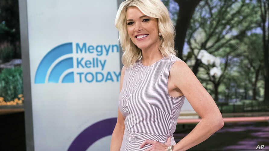 """Megyn Kelly poses on the set of her new show, """"Megyn Kelly Today"""" at NBC Studios, Sept, 21, 2017, in New York."""