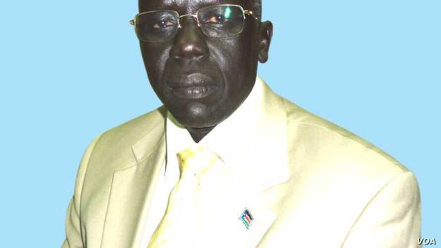 Former South Sudanese Minister for Roads and Bridges Lt. Gen. Gier Chuang Aluong, one of seven political detainees who were released by the South Sudan government on Jan. 29, 2013 under the terms of a peace deal reached in Addis Ababa.