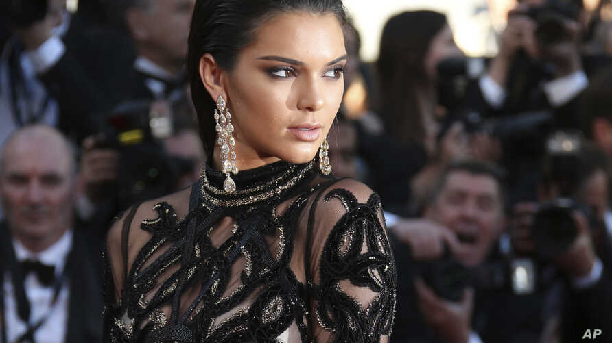 FILE - , Kendall Jenner poses for photographers upon arrival at the screening of the film Mal De Pierres at the Cannes International Film Festival in southern France.
