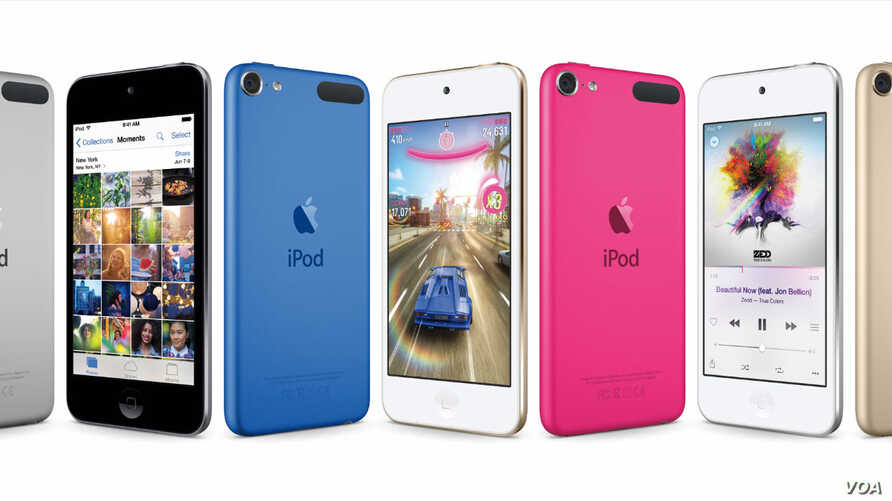 New iPod Touch design released by Apple Inc., July 15, 2015.