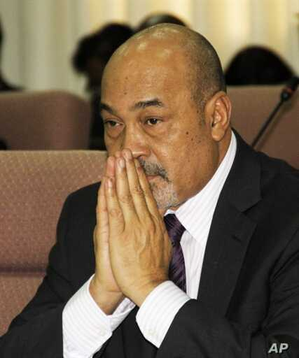 Former dictator Desi Bouterse, looks on in the house of parliament in Paramaribo, Suriname, 19 Jul 2010