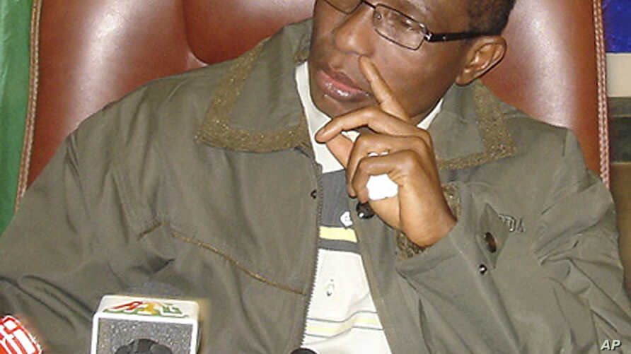 FILE - Guinea's exiled former military ruler Moussa Dadis Camara is seen in a Jan. 17, 2010, photo.