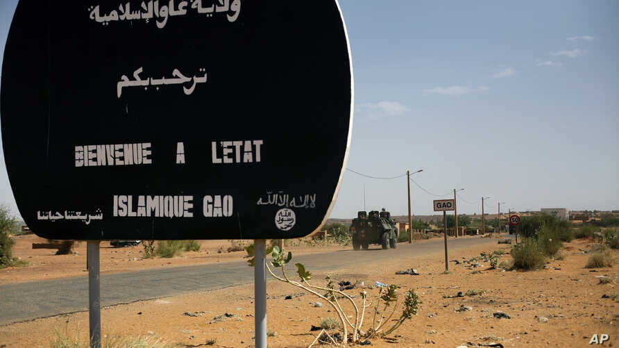 A convoy of French supplies reaches Gao, northern Mali, February 4, 2013.