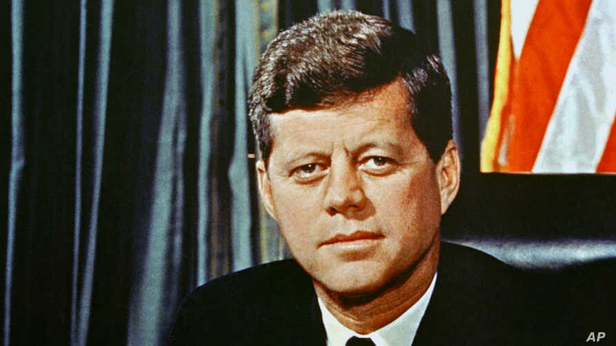 FILE - U.S President John F. Kennedy is seen in a 1963 portrait. Soon the JFK Library Foundation will start tweeting in his name.