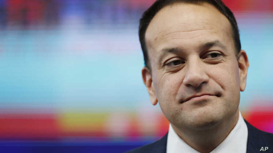 FILE - Irish Prime Minister Leo Varadkar is pictured in Brussels, Oct. 19, 2018.