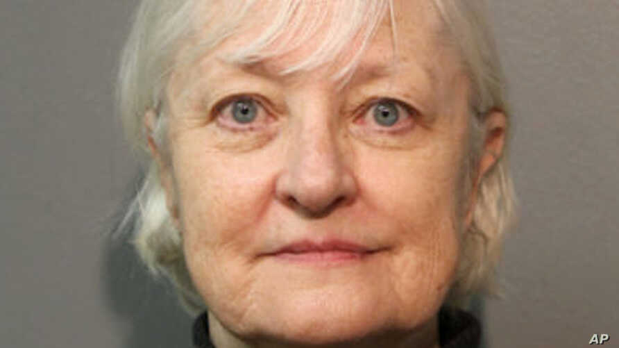 FILE - This January 2018, file photo provided by the Chicago Police Department shows Marilyn Hartman, who added this month to her arrest record for sneaking onto planes after what police say was a ticketless flight from Chicago to London has been ord