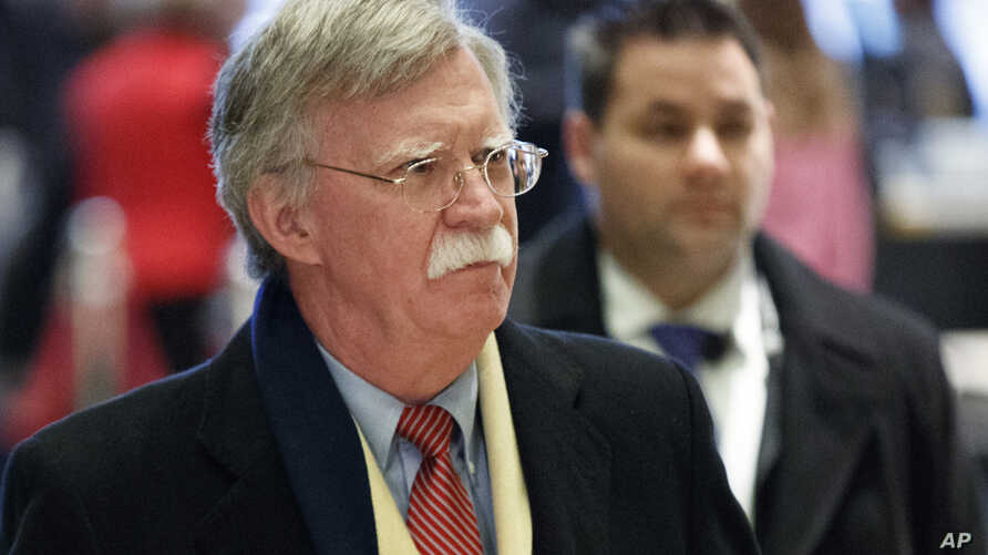 FILE - John Bolton, the former U.S. ambassador to the United Nations, arrives at Trump Tower for a meeting with then-President-elect Donald Trump, Dec. 2, 2016, in New York.