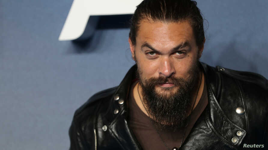 Actor Jason Momoa attends the world premiere of 'Aquaman' movie in London, Nov. 26, 2018.