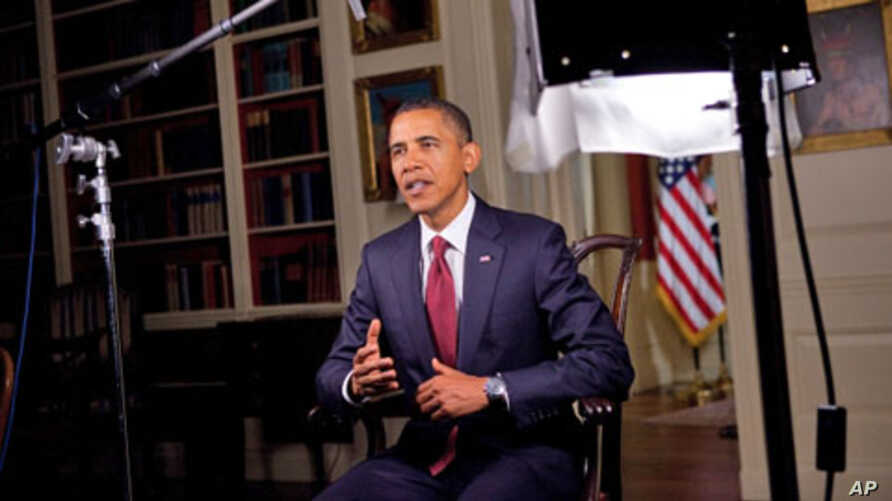 President Obama prepares to record his Weekly Address, 17 Sep 20101