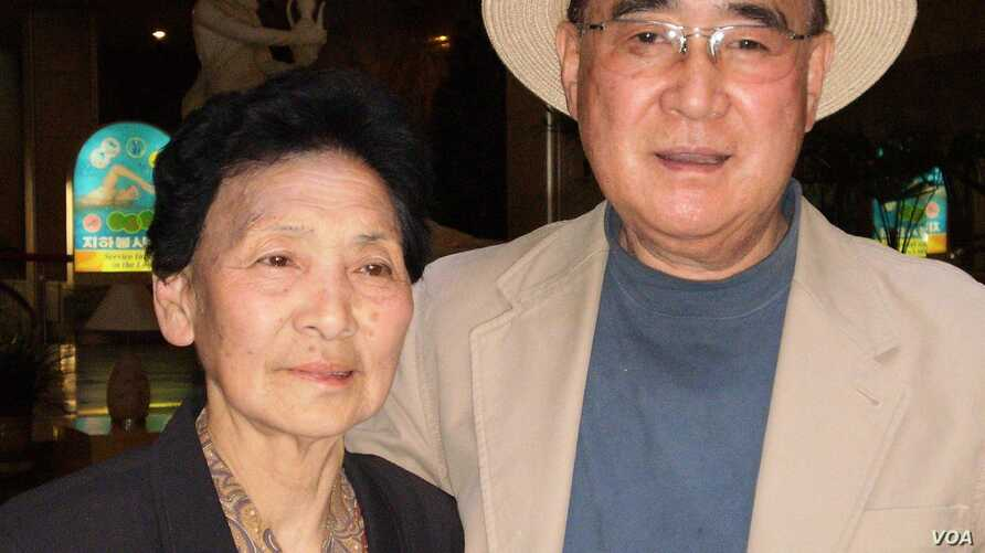 Dr. Moon Jae Pak (right) with his sister, Kyung Jae Pak , in Pyongyang, North Korea, 2011. (Photographer, unknown)