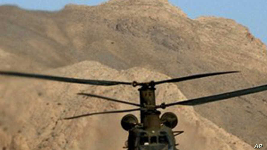 NATO helicopters fly over Afghanistan (file photo)