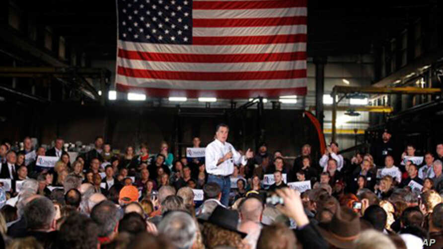 Republican presidential candidate, former Massachusetts Gov. Mitt Romney, speaks at a campaign rally in Colorado Springs, Colorado, February 4, 2012