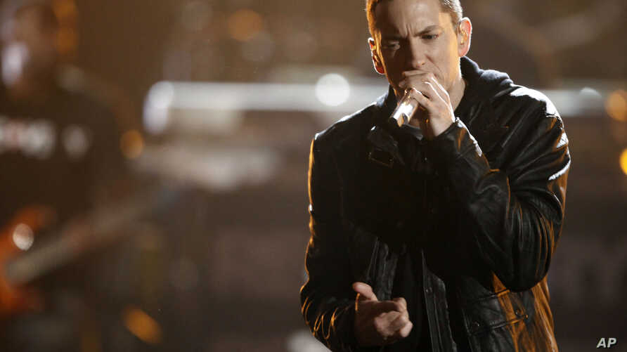 Eminem performs at the BET Awards June 27, 2010 in Los Angeles
