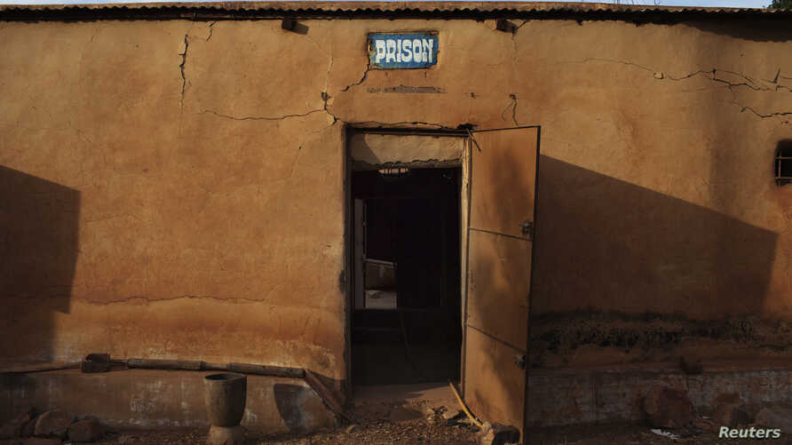 FILE - The door of a prison stands open in Douentza, Mali.