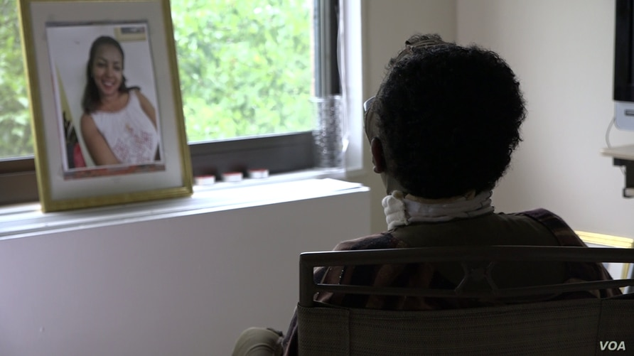 Selamawit Tefera sits by a window in this still frame from